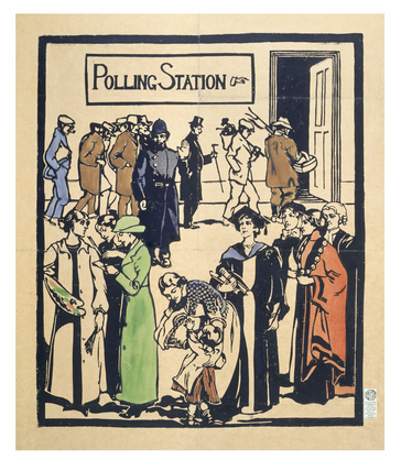 Outside the Polling station: 20th century