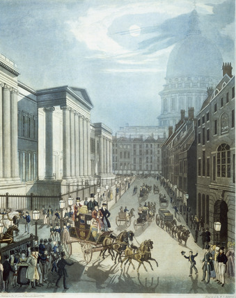 Detail of The Royal Mail starting from the General Post Office, London: 1830