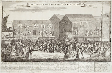 The Humours and Diversions of Bartholomew Fair: 18th century