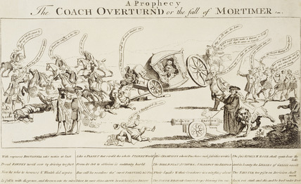 A prophecy - the coach overturned or the fall of Mortimer: 1762