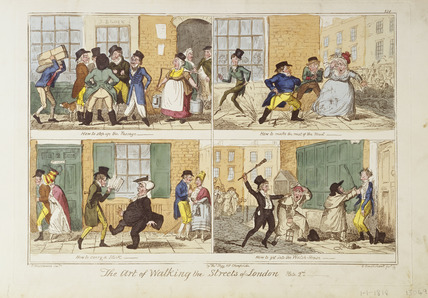 The Art of Walking the Streets of London. Plate 2nd.: 1818