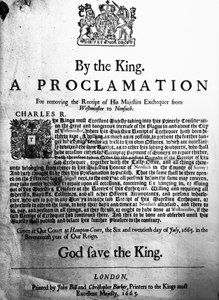Proclamation by the King: 1665