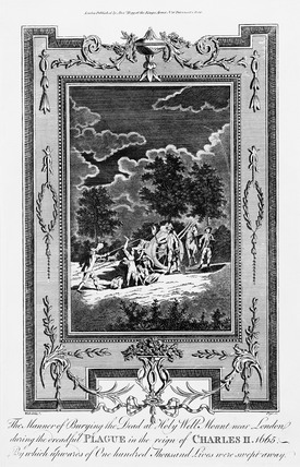 The Manner of Burying the Dead at Holy Well Mout, 1665: 18th century