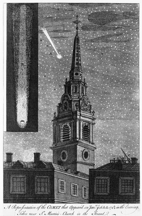 A Representation of the Comet that Appear'd on Jan'ry ye 26 &c &c 1743/4 in the Evening: 1744