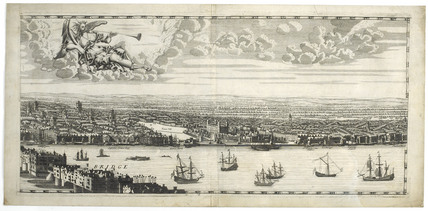 East London from Morgan map: 17th century