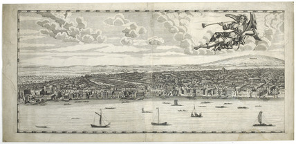 Detail view of Westminster from Morgan's panoramic map: 17th century