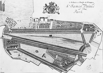 St. James Palace and Park: 1706