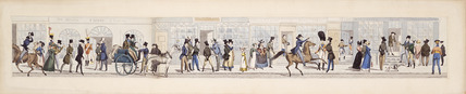 Plate from Fashion and Folly or the Buck's Pilgrimage: 1822