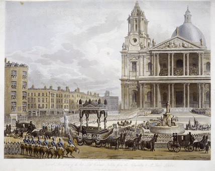 Nelson's Funeral, The Cortege arriving at St Paul's: 1806