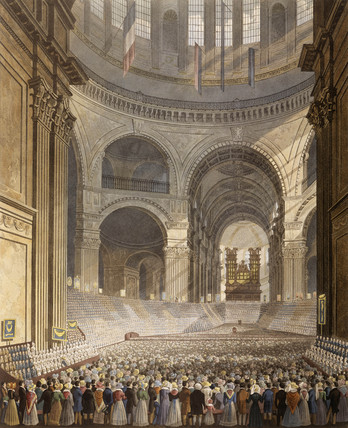 The Anniversary Meeting of the Charity Children in the Cathedral of St. Paul: 1829