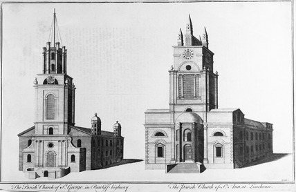 The Parish Church of St George in Ratcliff highway / The Parish Church of St Ann at Limehouse: 18th century