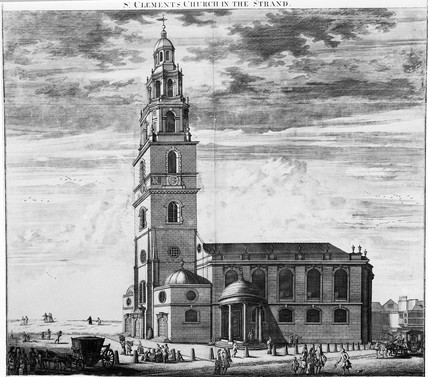 St Clements Church in the Strand: 18th century