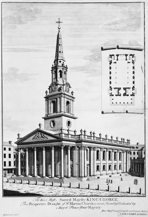 The perspective draught of St. Martin's Church: 18th century