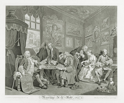 Marriage a La mode  - Plate 1: 18th century