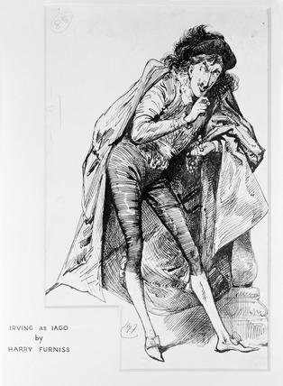 Irving as Iago: 1881