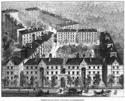 Peabody Square model dwellings: 1872