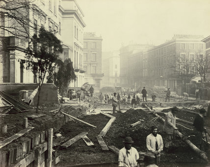 Construction between Paddington and Bayswater: 19th century
