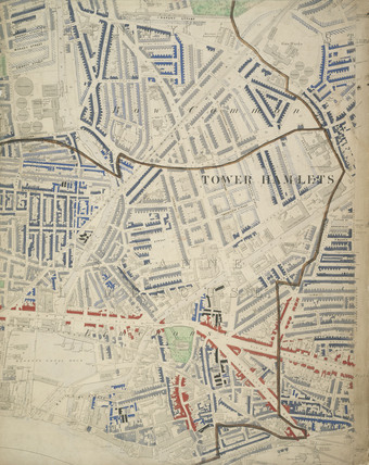 Descriptive map of London Poverty: Section 30: 1889