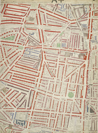 Descriptive map of London Poverty: Section 7: 1889