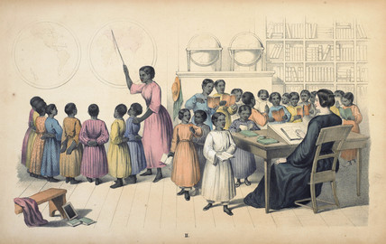 Sierra Leone II. Interior of a Girls'-school: 19th century