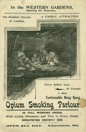 Opium Smoking Parlour Brochure: 1899