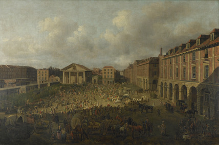 Covent Garden Piazza and Market: 18th century