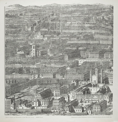 A Prospect of the City of London, Westminster and St. James's Park: 1710-1720