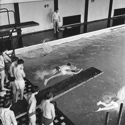 Boys' swimming lesson: 1959 -1966