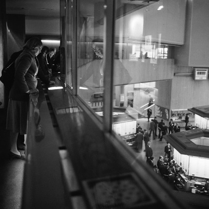 Visitors gallery at the Stock Exchange: 1980