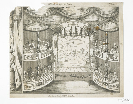Engraved toy theatre sheet: 1822-1830