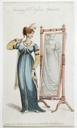 Woman in evening full dress : April 1809