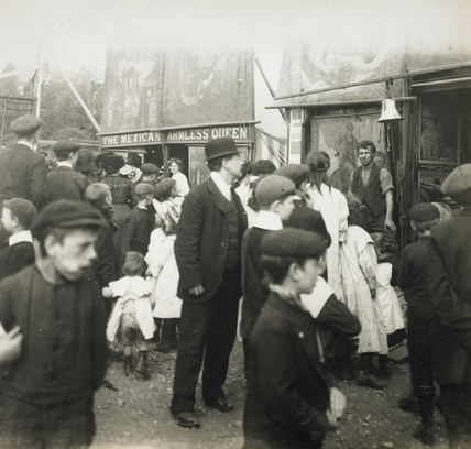 An East End fairground: c.1900