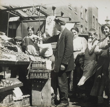 Fruit and vegetable stall: c.1900