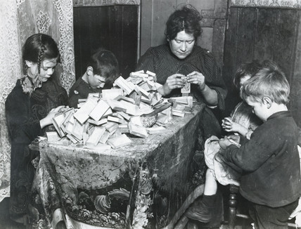 Match-box making at home: c.1900