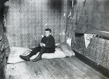 A boy's bedroom: c.1900