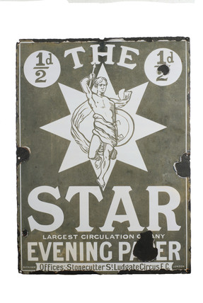 The Star Newspaper advertising sign