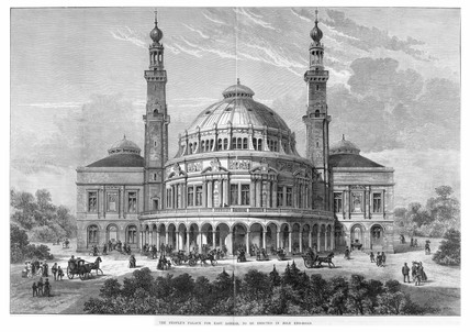 An artist's impression of the People's Palace: Circa 1890