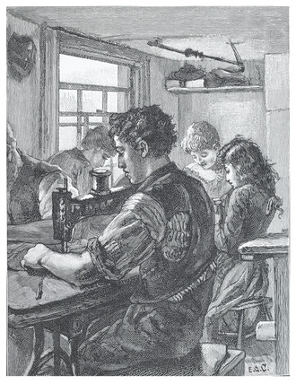 Jewish tailor's workshop: 1891
