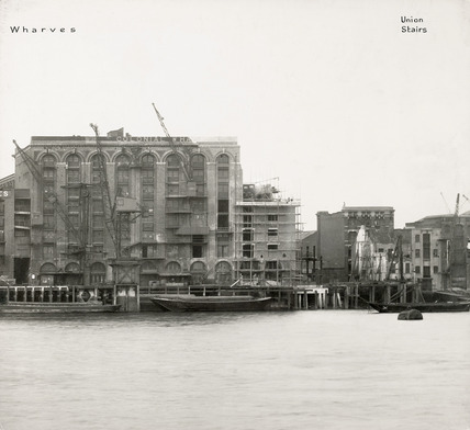 Thames Riverscape showing Colonial Wharves and Union Stairs : 1937
