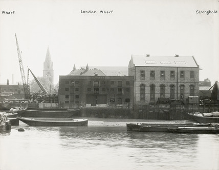 Thames Riverscape showing London Wharf and Stronghold Wharf; 1937