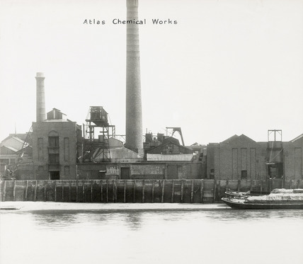 Thames Riverscape showing The Atlas Cement Works; 1937