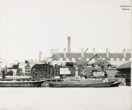 Thames Riverscape showing St. Andrew's Wharf and Coconut Stairs: 1937