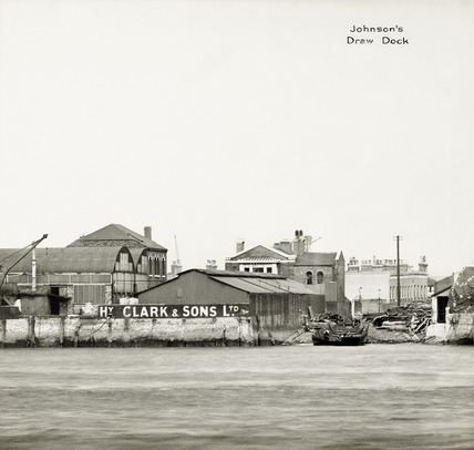 Thames Riverscape showing Midland Oil Wharf and Johnson's Draw Dock: 1937