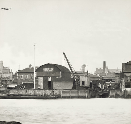 Thames Riverscape showing Felsted Wharf: 1937