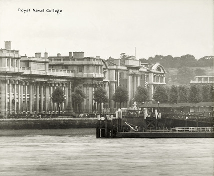Thames Riverscape showing Royal Naval College : 1937