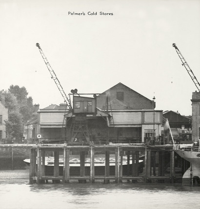 Thames Riverscape showing Palmer's Cold Stores: 1937