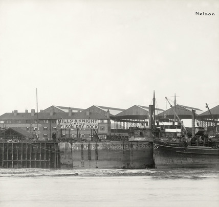 Thames Riverscape showing Danzic Dock and Nelson Dry Dock: 1937