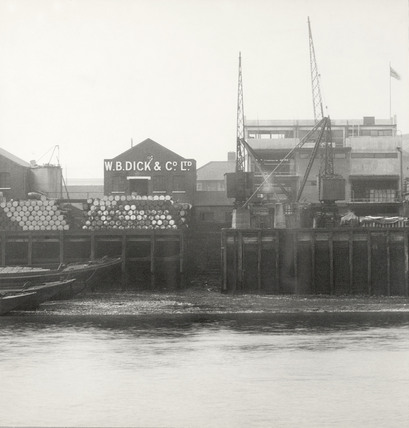 Thames Riverscape showing Horseferry Wharf: 1937
