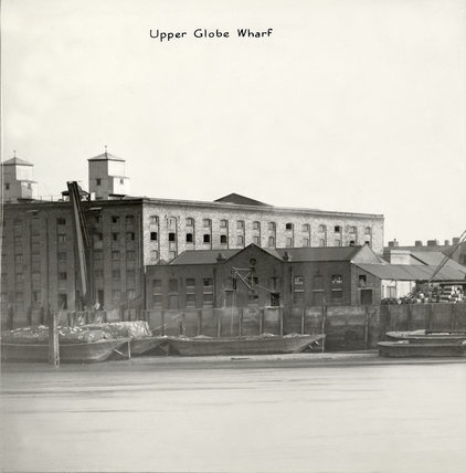 Thames Riverscape showing  Upper Globe Wharf: 1937