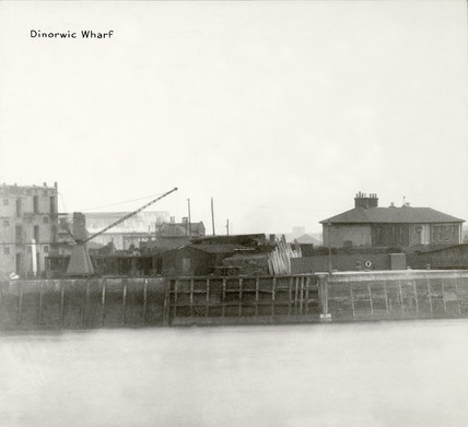 Thames Riverscape showing Dinorwic Wharf: 1937